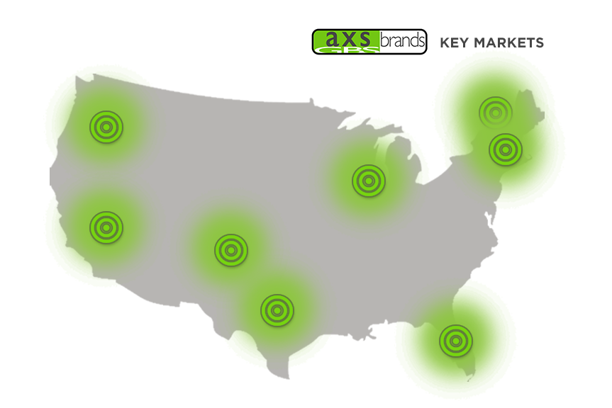 GBS AXS helps you reach key markets across the U.S.